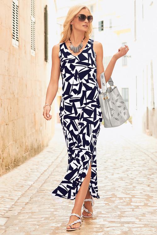 Kaleidoscope Printed Maxi Dress