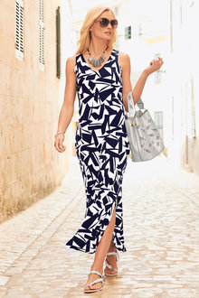 Kaleidoscope Printed Maxi Dress