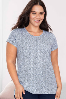 Plus Size - Sara Short Sleeve Scoop Neck Tee - 223913
