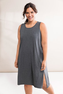 Plus Size - Sara Longline Sleeveless Nightie