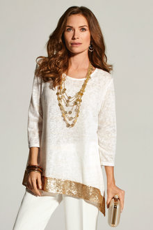 Kaleidoscope Sequin Trim Top