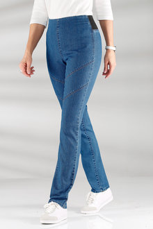 Capture European High Waist No Zip Jeans