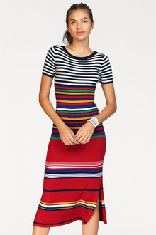 Urban Striped Knitwear Dress