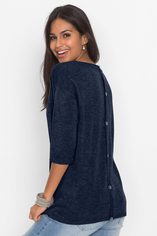 Urban Button Detail Sweater