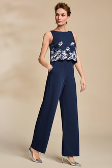Kaleidoscope Embroidery Detail Jumpsuit - 223976