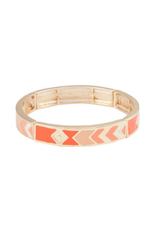 Amber Rose Malibu Enamel Hinged Bangle - 223988