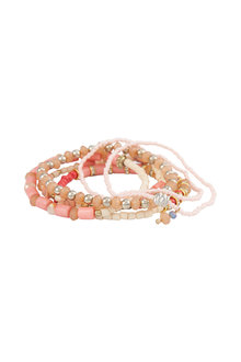 Amber Rose Multi Strand Beaded Stretch Bracelet