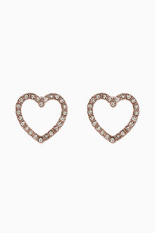 Next Diamante Effect Heart Stud Earrings - 224041