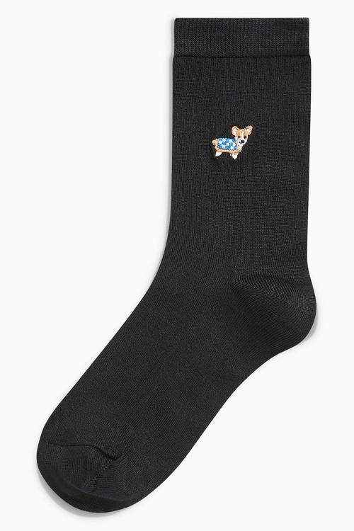 Next Dog Motif Ankle Socks Five Pack