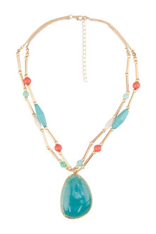 Amber Rose Pacific Coast Pendant Necklace