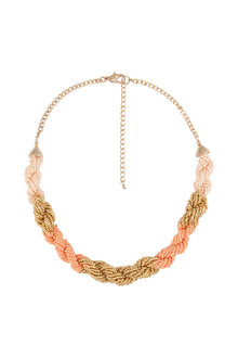 Amber Rose Malibu Statement Seed Bead Necklace - 224216
