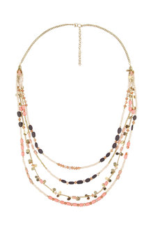 Amber Rose Malibu Multi Strand Necklace