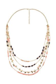 Amber Rose Malibu Multi Strand Necklace - 224219