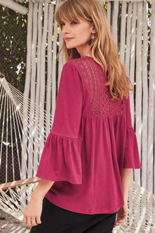 Next PINK LACE BLOUSE - 224251