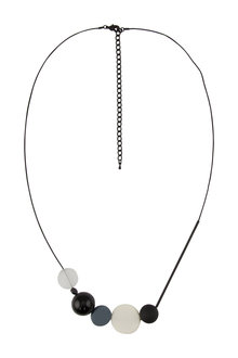 Amber Rose Abstract Long Necklace
