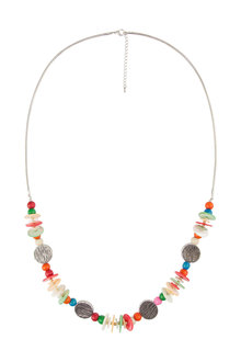 Amber Rose Malibu Shell Rope Necklace