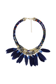 Amber Rose Apache Textile Short Necklace