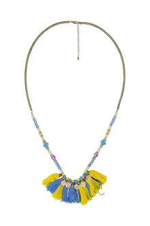 Amber Rose Fringed Rope Necklace