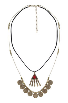 Amber Rose Illuminati Two Strand Necklace