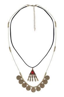 Amber Rose Illuminati Two Strand Necklace
