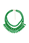 Amber Rose Fiesta Triple Strand Statement Necklace