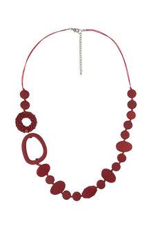 Amber Rose Salsawood Rope Necklace