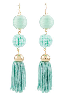 Amber Rose Manhattan Tassel Earrings
