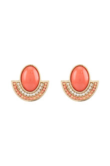 Amber Rose Malibu Cabachon Earrings