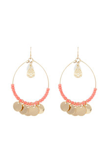 Amber Rose Malibu Feather Bead Earrings