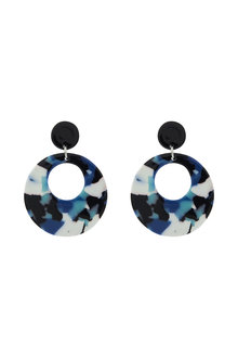 Amber Rose Mixed Acrylic Round Drop Earrings