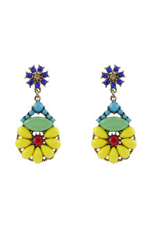 Amber Rose Floral Beaded Drop Earring