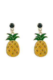 Amber Rose Pineapple Earrings