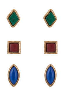 Amber Rose Fiesta Trio Earring Set
