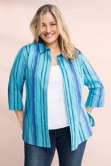 Plus Size - Sara Poplin Shirt - 224481