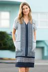 Capture Linen Scarf Print Dress