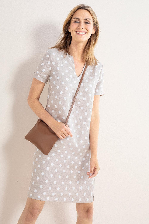 7af2680e61 Capture Linen Notch Neck Shift Dress Online | Shop EziBuy