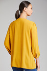 Capture Pleat Detail 3/4 Sleeve Top