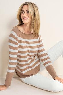 Emerge Stripe Sweater - 224518