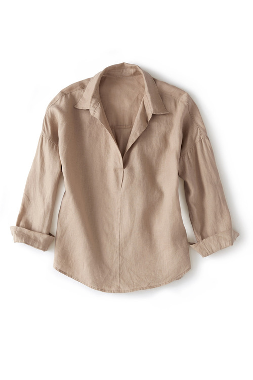 Grace Hill 1/2 Placket Tab Sleeve Shirt