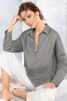Grace Hill 1/2 Placket Tab Sleeve Shirt