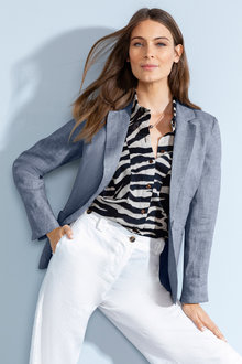 Grace Hill Linen Unlined Blazer - 224523