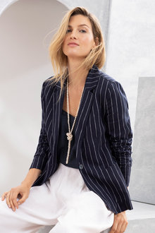 Grace Hill Linen Unlined Blazer
