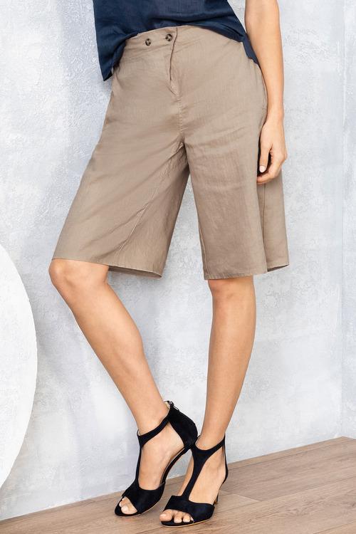 Grace Hill Long Linen Shorts