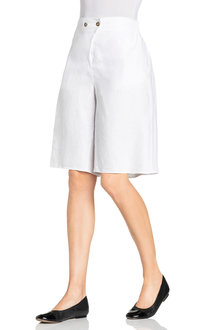 Grace Hill Long Linen Shorts