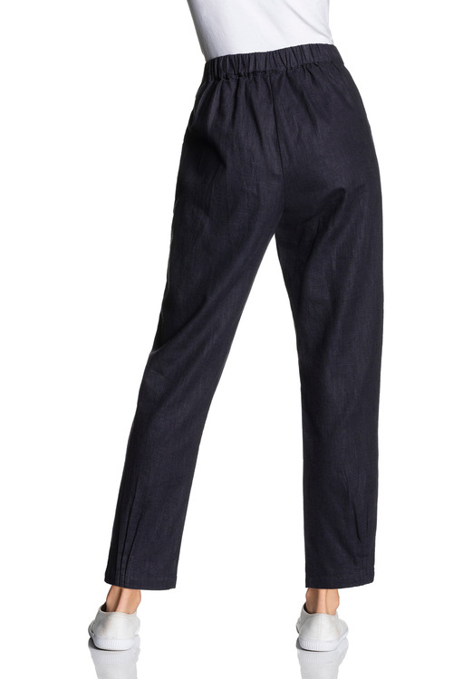 Grace Hill Linen Cuff Detail Pant