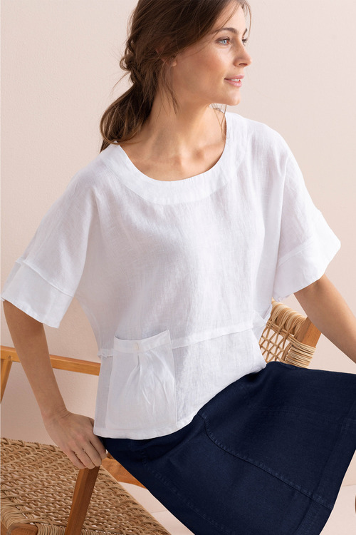 Capture Linen Pocket Top