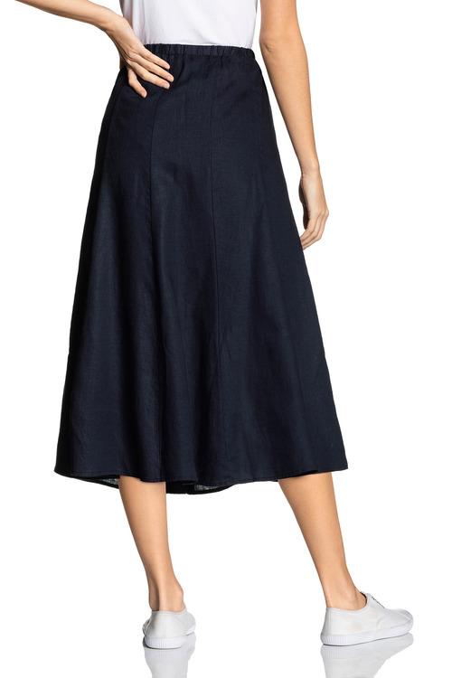 Grace Hill Linen Panelled Skirt