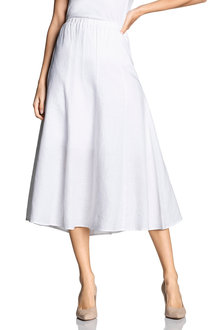 Grace Hill Linen Panelled Skirt