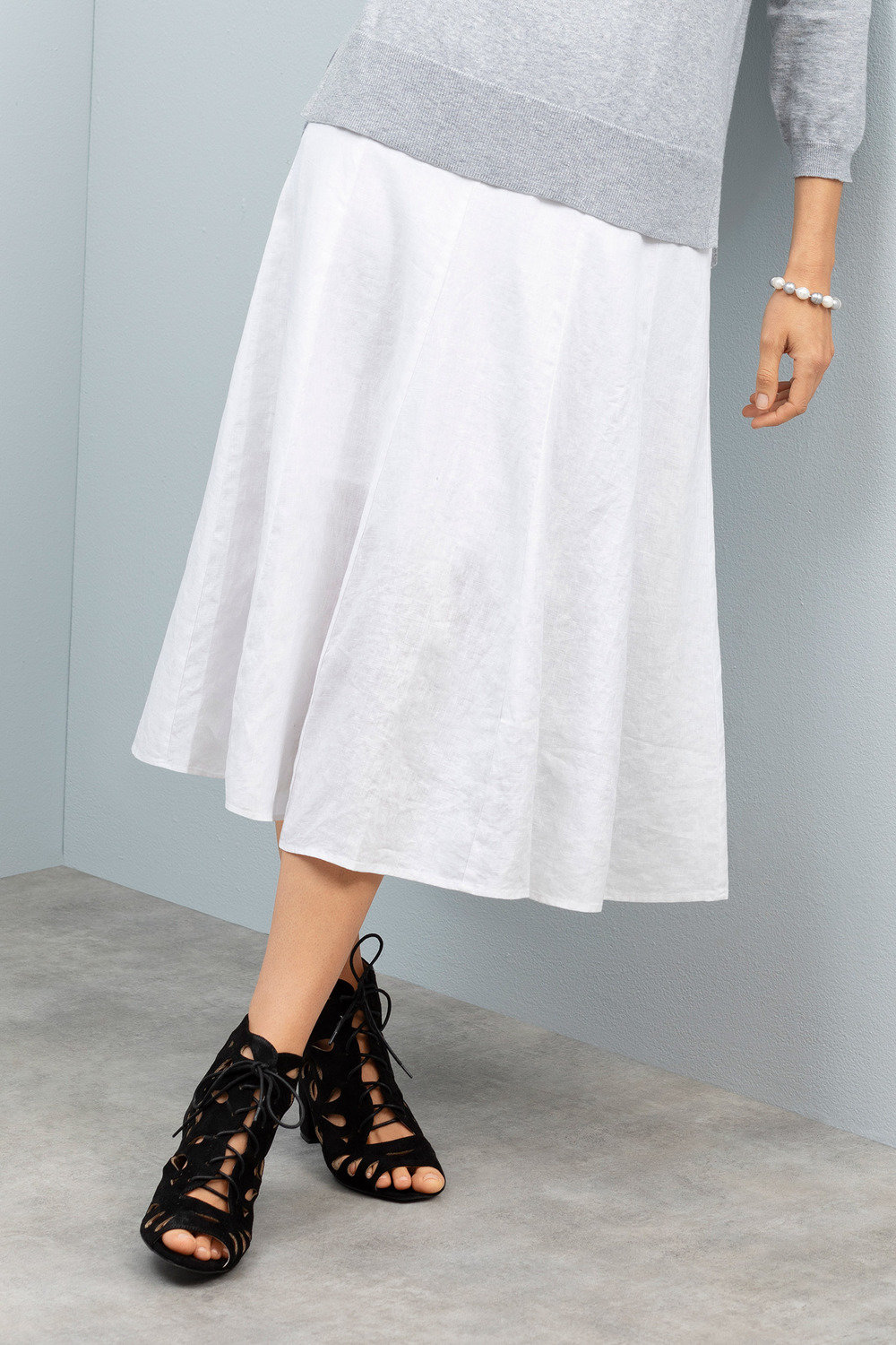 e44f344c101748 Grace Hill Linen Panelled Skirt Online | Shop EziBuy