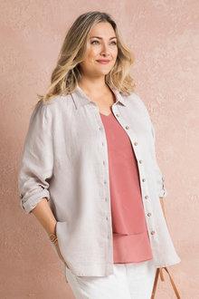 Sara Longline Linen Shirt - 224547